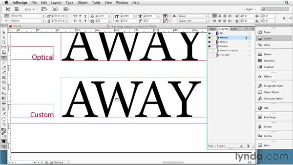 Understanding kerning methods: InDesign Typography (2012)