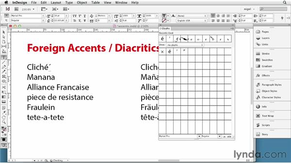 Working with accents and special characters: InDesign Typography (2012)