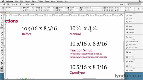 Setting fractions: InDesign Typography (2012)