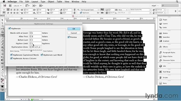 Working with left-aligned type: InDesign Typography (2012)