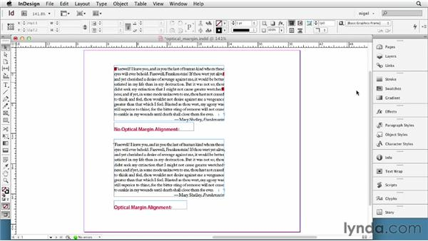 Using Optical Margin Alignment: InDesign Typography (2012)