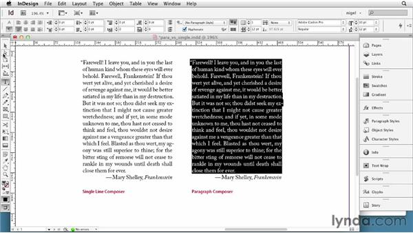 Understanding the Paragraph Composer and Single-line Composer: InDesign Typography (2012)