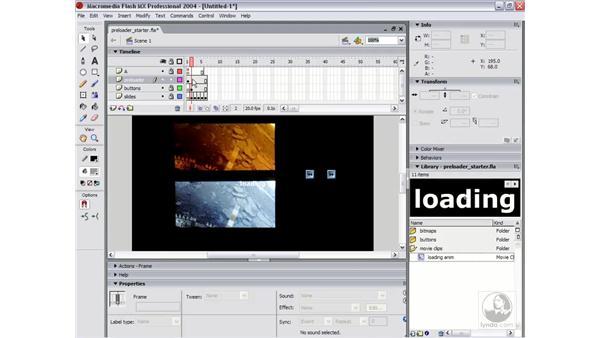 preloader part 3: Flash MX 2004 Essential Training