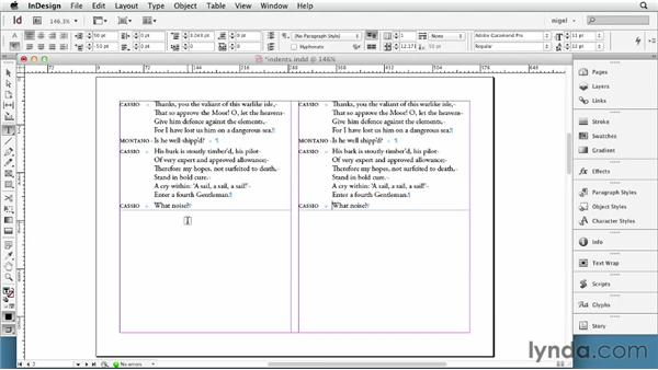 Working with left and right indents: InDesign Typography (2012)