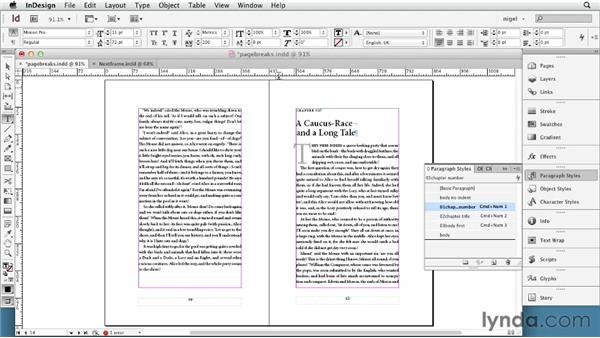 Using frame, column, and page breaks: InDesign Typography (2012)