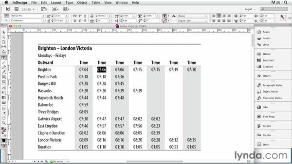 Considerations for table text: InDesign Typography (2012)