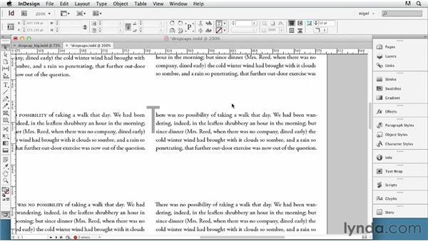 Understanding drop caps: InDesign Typography (2012)