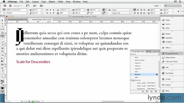 Navigating tricky drop caps: InDesign Typography (2012)