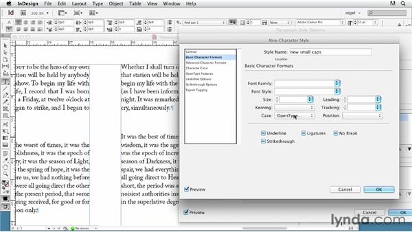 Using a nested character style with a drop cap: InDesign Typography (2012)