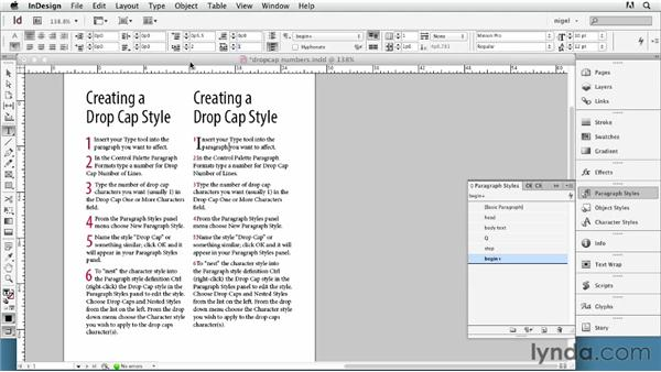 Other uses of drop caps: InDesign Typography (2012)