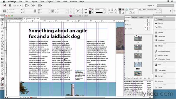 Setting up columns: InDesign Typography (2012)