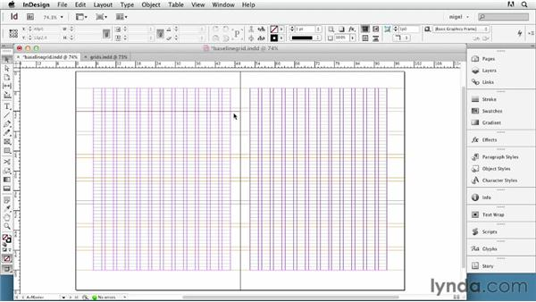 Setting up a baseline grid: InDesign Typography (2012)