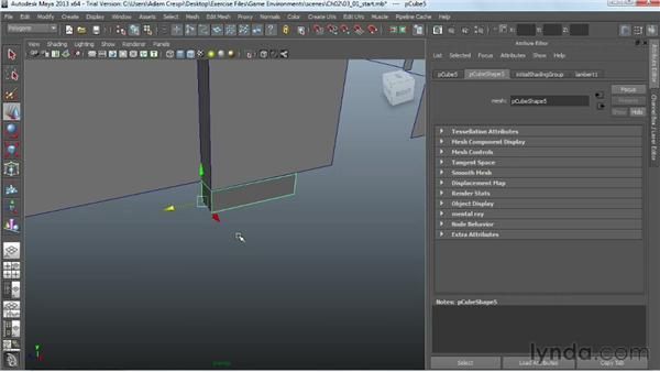 Adding foundation elements: Creating Game Environments in Maya and Photoshop