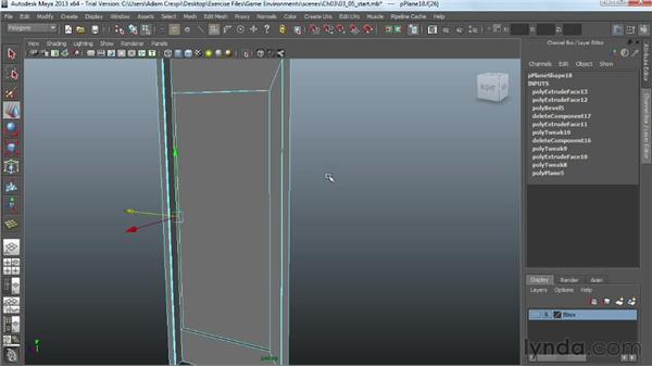 Constructing high-detail doors: Creating Game Environments in Maya and Photoshop