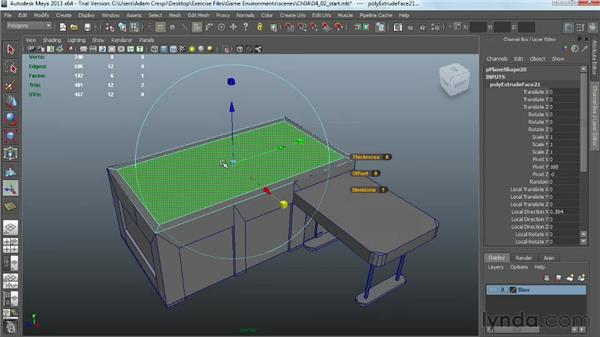 Building a roof: Creating Game Environments in Maya and Photoshop