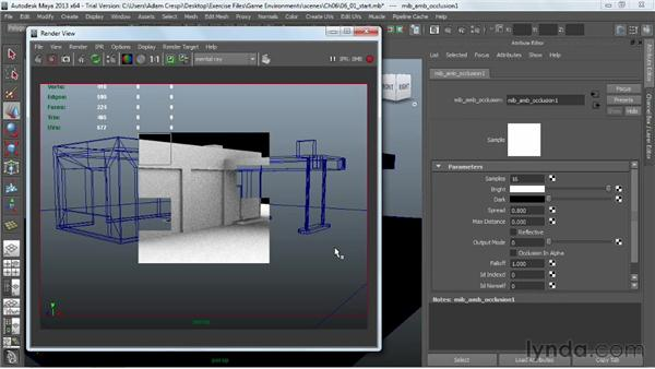 Overview of ambient occlusion: Creating Game Environments in Maya and Photoshop