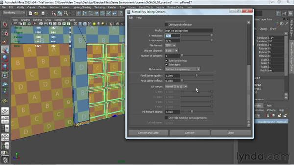 Baking occlusion using the Batch Bake dialog: Creating Game Environments in Maya and Photoshop