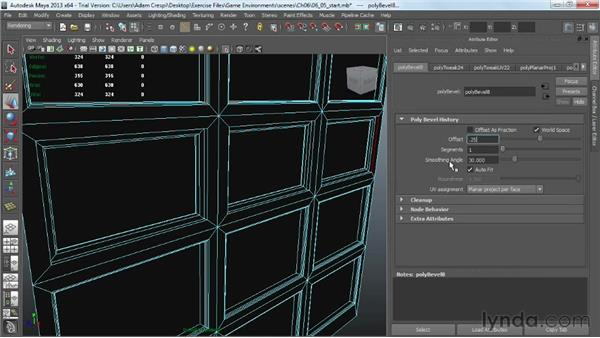 Baking a normal map using the Transfer Map dialog: Creating Game Environments in Maya and Photoshop