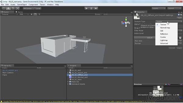 Importing textures and marking them for use: Creating Game Environments in Maya and Photoshop