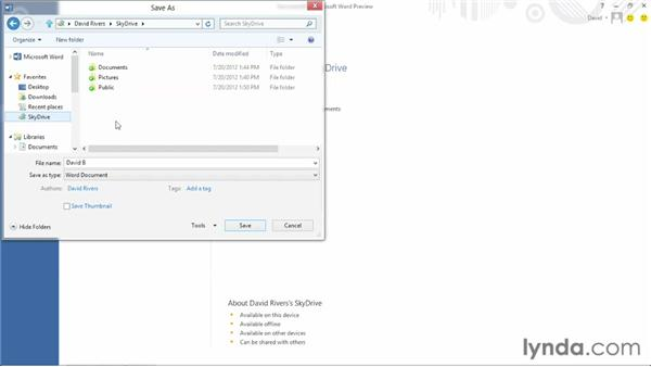 Integrating with the cloud: Office 2013 First Look
