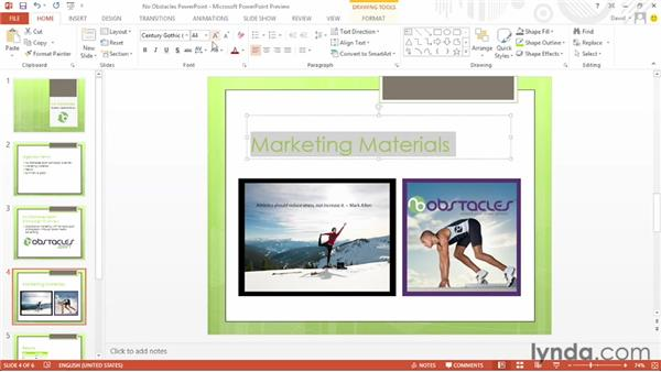 Using the Bookmark feature: Office 2013 First Look