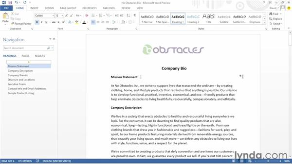 Editing PDF documents: Office 2013 First Look