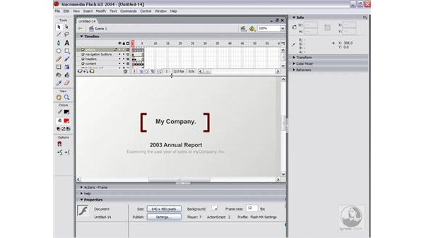 using the built-in templates: Flash MX 2004 Essential Training