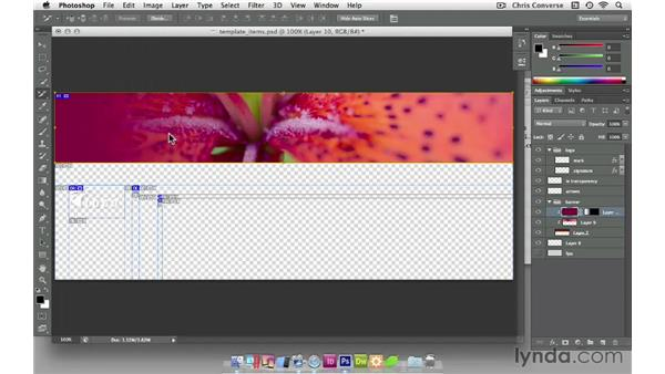 Saving web graphics from Photoshop: Create Navigation Menus with jQuery and Dreamweaver