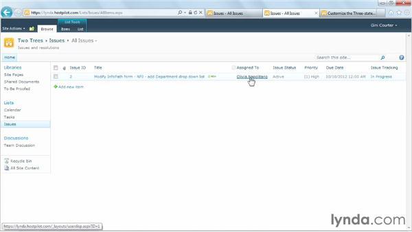 Running the Three-state workflow: SharePoint Designer 2010: Building Custom Workflows