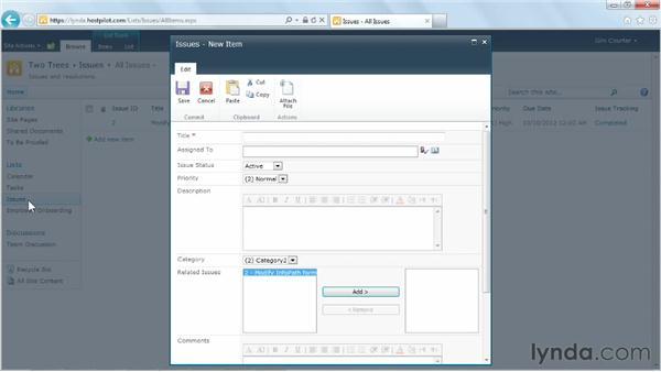 Using a built-in SharePoint list form: SharePoint Designer 2010: Building Custom Workflows