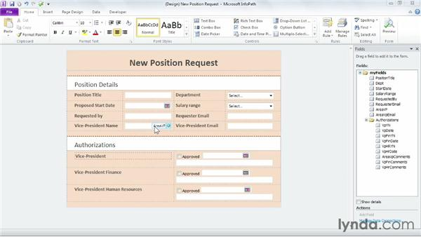 Using InfoPath to create a form for a library: SharePoint Designer 2010: Building Custom Workflows