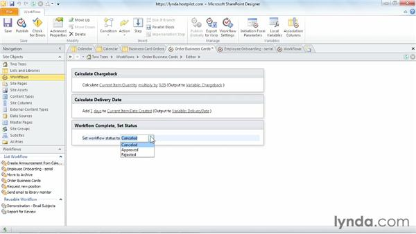 Setting workflow status: SharePoint Designer 2010: Building Custom Workflows