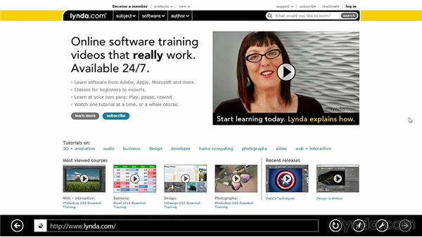 Web navigation with Internet Explorer 10: Windows 8 Release Preview First Look