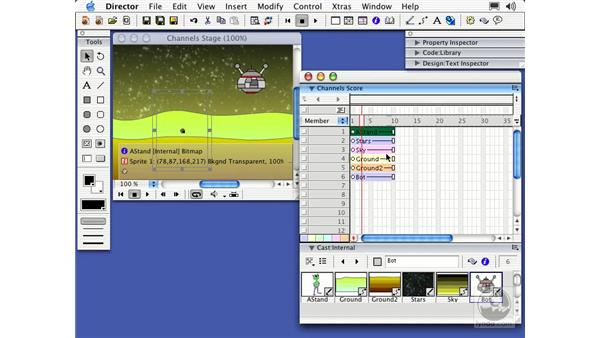 sprite channels: Director MX Essential Training