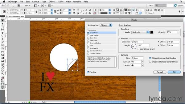 051 Making Peeling Stickers: InDesign FX