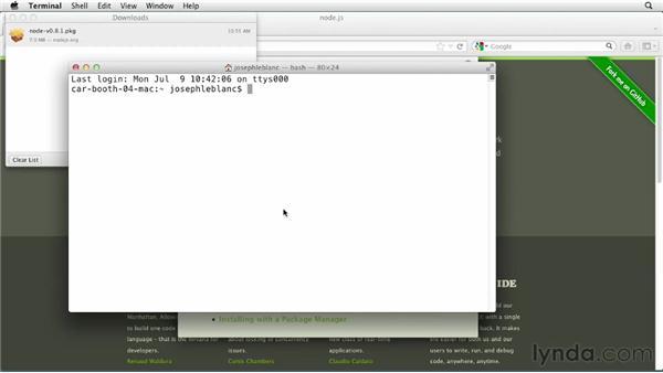 Installing Node on a Mac: Node.js First Look