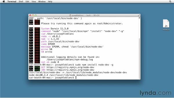 Restarting scripts automatically: Node.js First Look