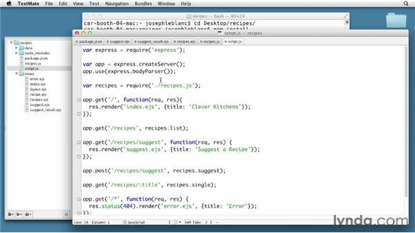 Posting data: Node.js First Look