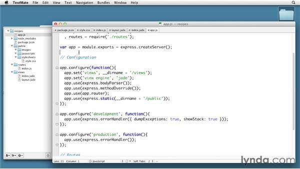 Generating Express sites: Node.js First Look