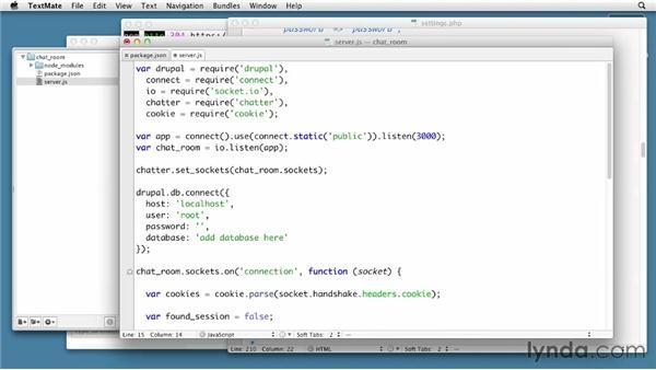 Creating a Drupal chatroom back-end: Node.js First Look