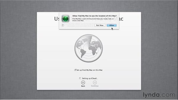 Exploring the updated setup process: Mac OS X Mountain Lion New Features