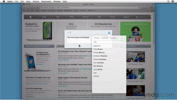 Sharing data: Mac OS X Mountain Lion New Features