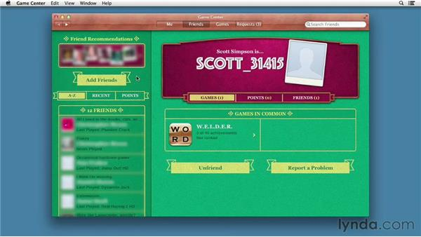 Keeping track of your gaming prowess with Game Center: Mac OS X Mountain Lion New Features