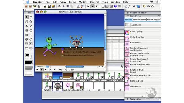 automatic animation: Director MX Essential Training