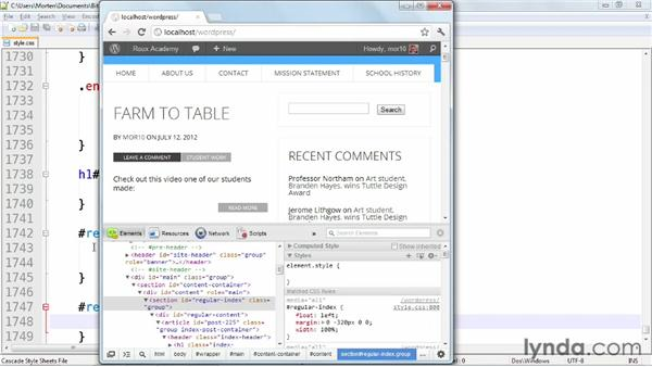 Making the sidebar responsive: WordPress: Building Responsive Themes
