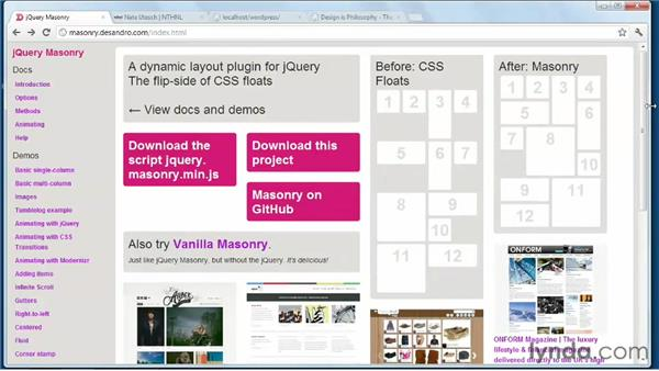What is jQuery Masonry?: WordPress: Building Responsive Themes