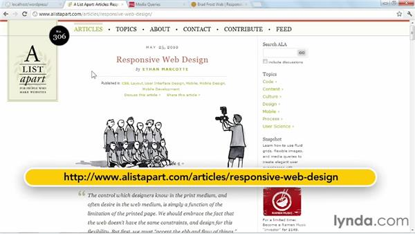 Where to go from here: WordPress: Building Responsive Themes
