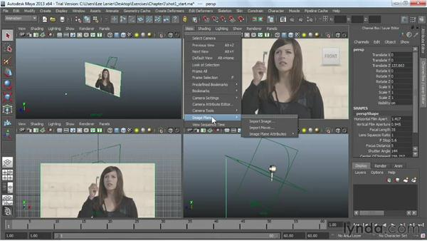 Importing reference video as an image plane: Maya Rendering for After Effects Composites
