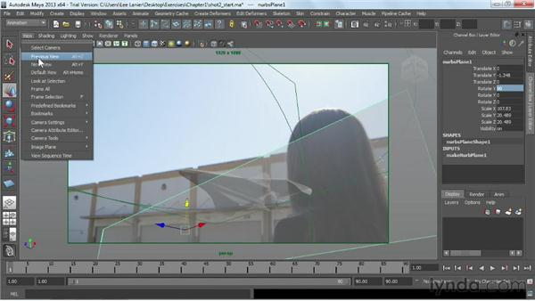 Creating mattes and shadows in preparation for rendering: Maya Rendering for After Effects Composites