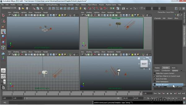Splitting a scene into multiple render passes: Maya Rendering for After Effects Composites
